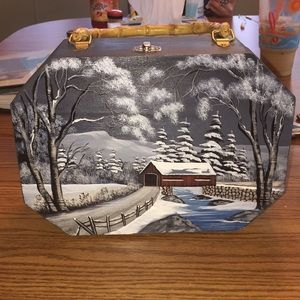 Hand-Painted Wooden Case
